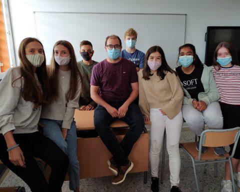 Pepe Guarinos en el Instituto Andreu Nin